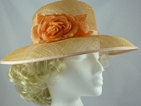 Sombrero Collection Peach Wedding Hat